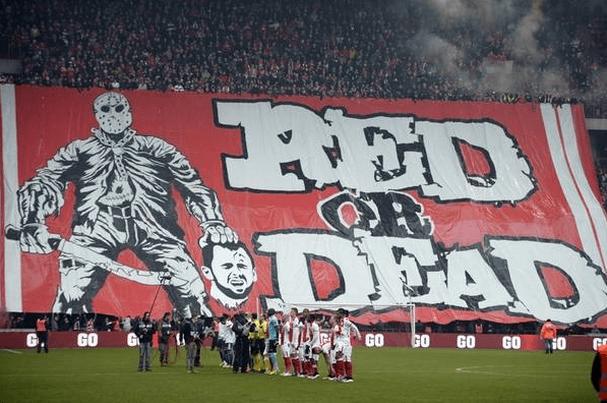 Standard Liège tifoen fra weekenden